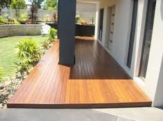 Deck Design Ideas - Photos of Decks. Browse Photos from Australian Designers & Trade Professionals, Create an Inspiration Board to save your favourite images. Front Deck, House Front, Front Porches, Front Door Entrance, Entrance Ideas, Wood Deck Designs, Door Decks, Wooden Decks, Garden Photos