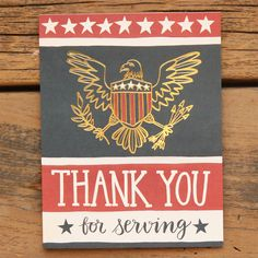 Thank You For Serving military card by 1canoe2 on Etsy, $4.50