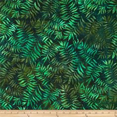 Designed by Lunn Studios for Kaufman Fabrics, this Indonesian batik is perfect for quilting and craft projects as well as apparel and home décor accents. Colors include shades of green.