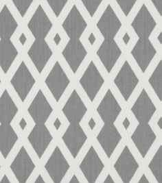 Home Decor Print Fabric-Robert Allen at Home Best Fret nickel Closet office curtain with pull backs