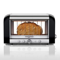 With a Vision Toaster you can watch your bread toast and stop it *just* before it starts to burn.