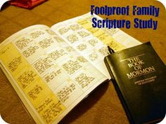 Foolproof family Scripture Study: rewards for daily reading. Write down the verse where you stopped.
