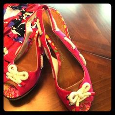 I just added this to my closet on Poshmark: New!  SPERRY'S Sz 9.5 Pink Wedge Sandals. Price: $55 Size: 9.5