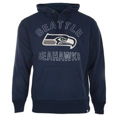 0fb72da3f Seattle Seahawks - Seahawk Logo Striker Midnight Premium Pullover Hoodie