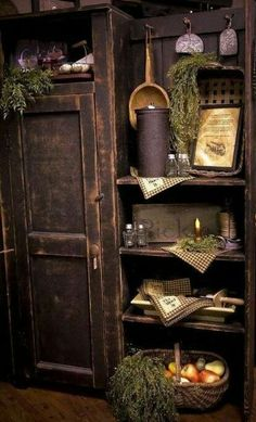Popular how to decorate shelves with primitives armoire shelf bookcase styling rustic farmhouse primitive cottage