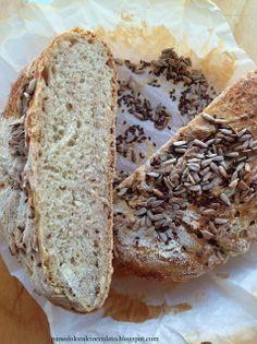 Pane rustico ai semi senza impasto