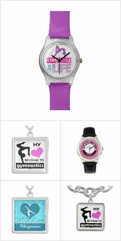 Gymnastics Jewelry Collection by Golly Girls - necklaces, charm bracelets, and watches for gymnasts.