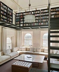 Making the home... loft-style... the library