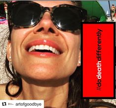 """bevival.com on Instagram: """"The global movement to talk about death, differently, is in full swing as @artofgoodbye posts this #DoDeathDifferently selfie from Croatia!…"""" In Full Swing, Croatia, Death, Posts, Selfie, Instagram, Art, Art Background, Messages"""