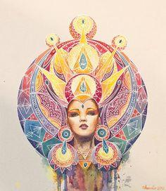 Совсем недавно познакомилась с творчеством молодой художницы Annelie Solis. Увидела и не смогла оторваться. Ее персонажи действительно заглядывают внутрь души и что-то там меняют, делают осмысленным и божественным. У меня от ее работ захватывает дух.