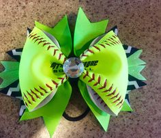 A personal favorite from my Etsy shop https://www.etsy.com/listing/226160471/softball-ribbon-bow