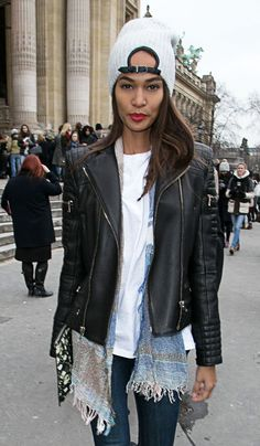 Taking a Couture Beauty Trend to the Street: Joan Smalls's Knockout Red Lip – Vogue