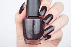 opi Shh…It's Top Secret! I would say it is a very dark brown shade, almost black