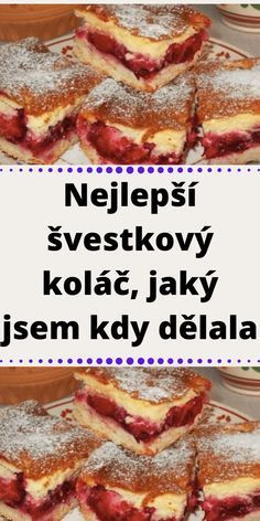 Czech Desserts, Czech Recipes, Fruit Smoothies, Kimchi, Amazing Cakes, Biscuits, Bakery, Food And Drink, Pudding