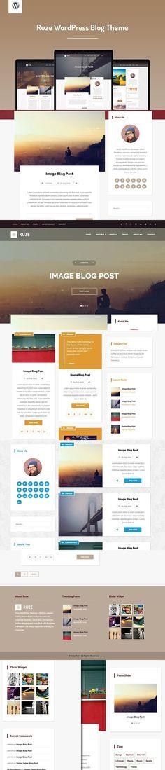 Ruze WordPress Blog Theme. WordPress Blog Themes. $49.00