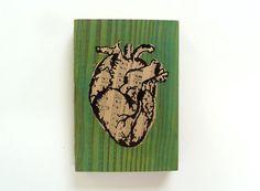 Anatomical Heart Wall Art  by eightyacresart, $16.00