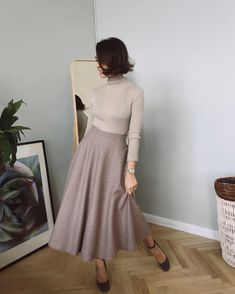 Stylish Outfit Ideas 2019 You Will Love outfit ideas Work style Modest Outfits, Skirt Outfits, Modest Fashion, Dress Skirt, Dress Up, Fashion Outfits, Womens Fashion, Silk Dress, Fashion Hacks