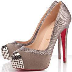 Christian Louboutin Maggie Pumps Leather Elefante Pewter