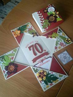 Explosions-Box, botanical blooms, Blüten, Blumen, Blätter, Geburtstag, und partystimmung, botanischer Garten, so viele Jahre, orangentraum, Brombeermousse, Stampin'Up, www.aufgestempelt.de