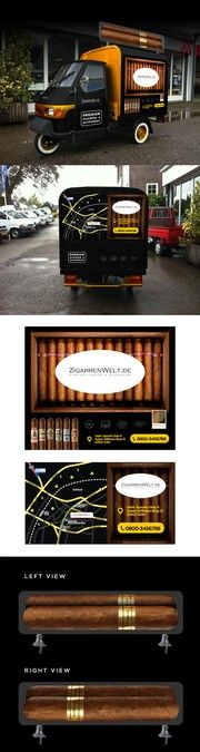 DESIGN OUR NEW CIGAR SHOP TAXI!!! EYECATCHING DESIGN FOR Piaggio Ape by…