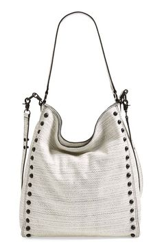 Loeffler Randall Studded Leather Hobo available at #Nordstrom