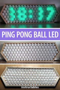 Make a large illuminated clock out of ping pong balls, LEDs, and an Arduino. Make a large illuminated clock out of ping pong balls, LEDs, and an Arduino. Diy Electronics, Electronics Projects, Wood Crafts, Diy And Crafts, Make A Clock, Cool Clocks, Easy Projects, Diy Design, Arduino Programming