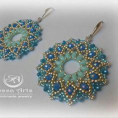 Orecchini Capri #tessituradiperline #azzurri #fashionstyle #jewelry #errings #fashionblogger #elegance #fashion #handmade