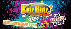 Kidz Blitz is coming to CFTN this week! July 24-26 from 6:30pm to 8:30pm. Registration is #Free www.cftn.com/vbs #KidzBlitz #vbs