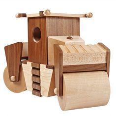 DIY Wooden Steam Roller Plan   Woodworking Session