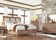 Light and Natural - The matching Trey Ceiling and window trim makes this bedroom decor stand out!