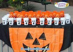Ping Pong Pumpkin Halloween Game Idea