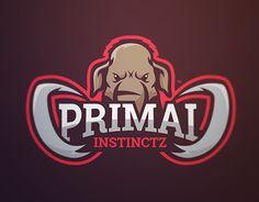 Mascot logo design of a mammoth for eSport team.