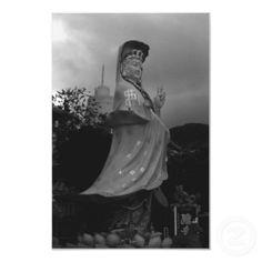 BW China Hong Kong Repulse Bay Kwun Yam Statue 1970
