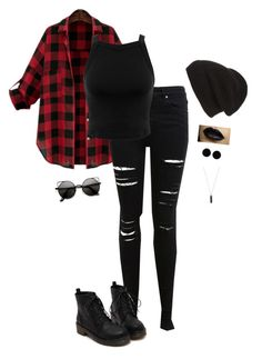 """Punk"" by hanakdudley ❤ liked on Polyvore featuring Miss Selfridge, Phase 3, AeraVida and Karen Kane"