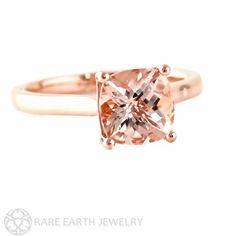Sophisticated in its simplicity and graceful in design, this gorgeous natural Morganite solitaire ring can be made in your choice of 14K white, yellow