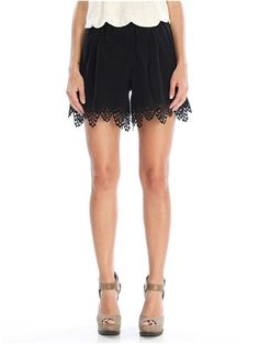 Gypsy 05 Punta Cana Laser Cut Silk Short in Noir