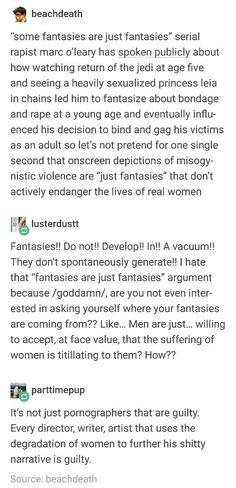 Socialization perpetuates rape culture. People have sexual preferences but that doesn't mean they are innocent or that they should be perpetuated. Violence against women is not naturally arousing, society/media/porn trains young boys and even some girls to be attracted to sexual violence.