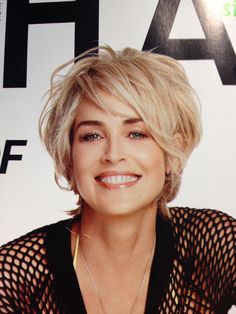Sharon Stone at 56 I like her hair color and style