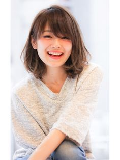 Drive for garden (drive for garden) 【This summer& No. 1 popular】 Cool fluffy medium that can be tied Medium Long Hair, Long Hair With Bangs, Haircuts For Long Hair, Medium Hair Cuts, Short Curly Hair, Short Hair Cuts, Medium Hair Styles, Short Hair Styles, Bangs Medium Hair