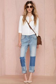 Nasty Gal Denim - Patch Up Boyfriend - Denim | Denim