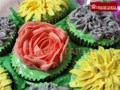"""Cupcakes flores """"día de la madre"""" (sin gluten)"""