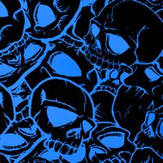 Blue Skulls film for Hydrographic Printing your 3 dimensional item.