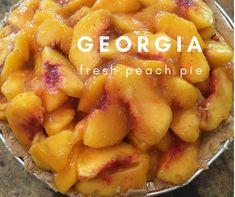 Fresh Georgia Peach Pie  @thepincook Fresh Peach Pie, Georgia, Sweets, Fruit, Cooking, Blog, Recipes, Sweet Pastries, Gummi Candy