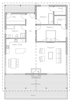 Utility becomes entry/study then add a WIP/laundry room between the bathroom and kitchen.  house-plans-2015_10_house_plan_ch327.png