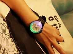 Colorful LED Backlight Sport Fashion Silicone Rubber Watch Wrist Watch for Men /Male
