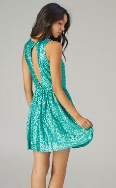 Seafoam Sequin Dress
