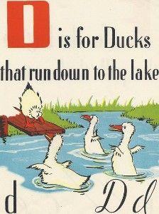 Vintage 1950s Children's Book Page D