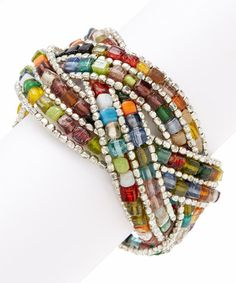 Look what I found on #zulily! Red & Green Braided Mosaic Cuff by ZAD #zulilyfinds
