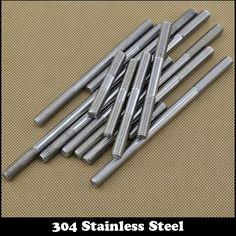 2pcs M8 180mm M8*180mm (Thread Length 28mm) 304 Stainless Steel Dual Head Screw Rod Double End Screw Hanger Blot Stud #Affiliate