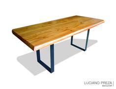 Mesa de comedor en madera de sabino 10 personas muebles for Muebles sabino